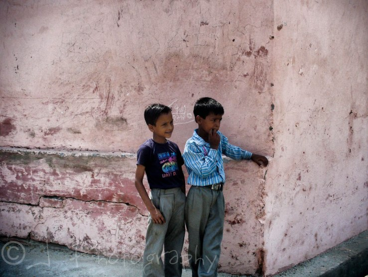 Two young gentlemen I photographed while I took a walk with buffaloes.