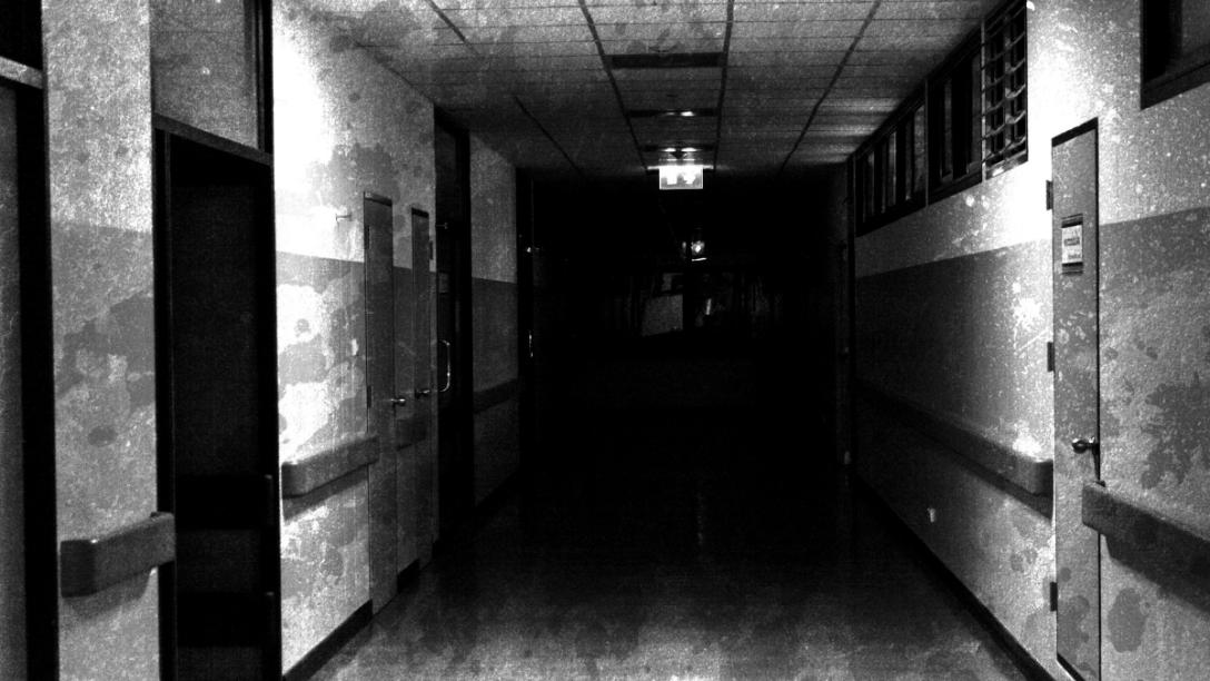 An empty scary corridor